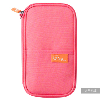 ... Cover Case Card Docunments Holder-Dark Blue - intl. Lovely protective case travel organizer export strap passport holder (Are code + Large pink)