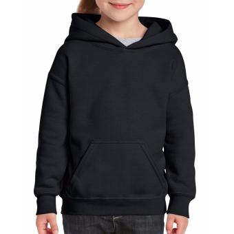 Cutton Tailored Plain Hoodie Jacket without Zipper for Kids (Black)(Int:XS)