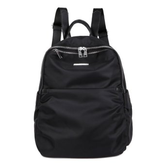 Designer Women Backpacks Black Rivet Shoulder School Bags For Teenagers Girls Ladies Fashion Pack Bags Waterproof - intl