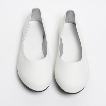 Doll Me Up Lucky Flat Shoes (White)