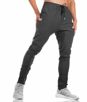 Dr. men's running training basketball clothing fitness pants (Dark gray color) (Dark gray color)