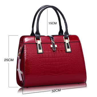 European and American female New style winter mommy bag (Wine red color)
