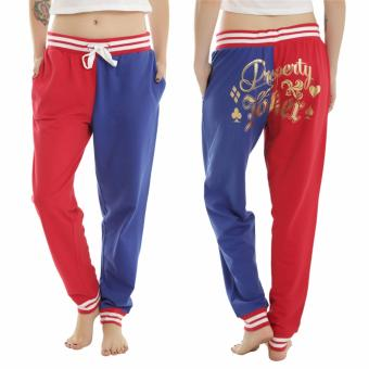 Fancyqube New Chic High Quality Suicide Squad Harley Quinn Propertyof Joker GIRLS JOGGER Spring & Autumn Hiphop cosplay casualpants women Christmas Red - intl