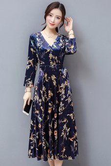 Fashion autumn New style v-neck dress