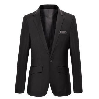 fashion black 301 Luxury Men Wedding Suit Male Blazers Slim Fit Suits For Men Costume Business Formal Party Classic jacket - intl