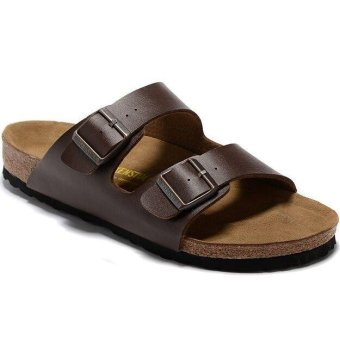 Fashion For Birkenstock Arizona Soft Footbed Flat Slippers Men (Dark Brown) - intl