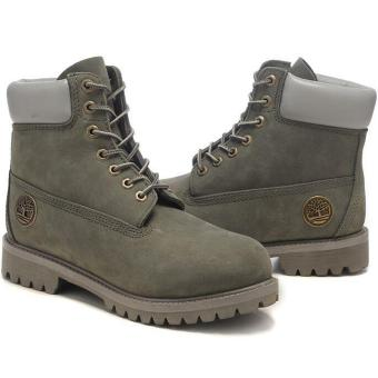 Fashion Leather Boots For Timberland 10061 Classic Style Men's(Grey) - intl