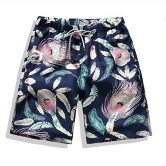 Fashion Men's Beach Shorts Quick Dry Summer Hip Hop Mens BoardShorts - intl