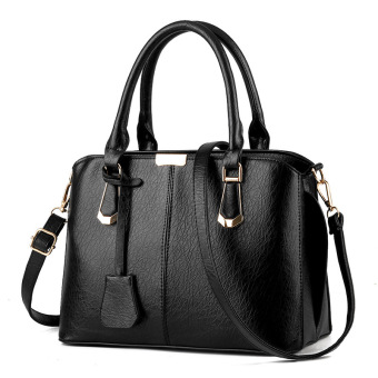 Fashion Women PU Leather Messenger Bag Handbag Shoulder Tote Bags Color Black - Intl