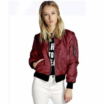 Fashionista Unisex Outdoor Bomber Jacket ( Red )