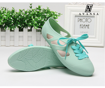 AVANSA Women's Korean-style Flat-bottom Beach Shoes (Mint Green) (Mint Green)