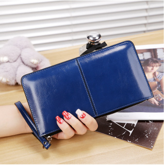 Female Japanese and Korean Style Large Capacity multi-functional New style handbag women's wallet (Sapphire Blue)