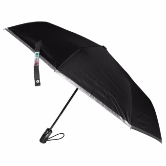 Fibrella Umbrella F00409 Automatic with UV Protection(Black)