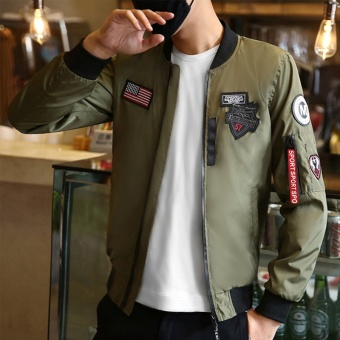 Flight Bomber Jacket for Men Army Windbreaker Air Force Flying 2017 Autumn New Pilot Korean Teenager