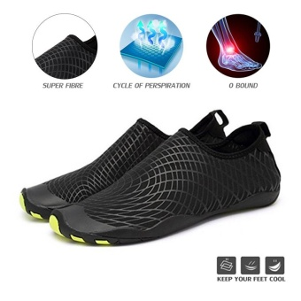 Foldable Slip Men Women Surf Aqua Beach Water Socks Shoes Sport Yoga Swim Diving Anti-slip Bottom Water Sport Shoes - intl