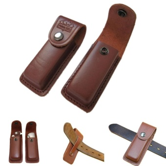 folding tool flashlight belt loop case holder leather sheathholster pouch bag pocket hunt camp outdoor carry edc multi gear -intl Price Philippines