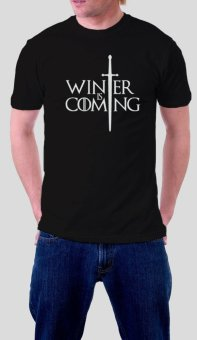 Game of Thrones T-Shirt for Men - Winter is Coming (Black)
