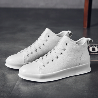 Gao Banghan version of men autumn New style BayMini shoes hight-top shoes (White)