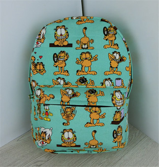 Garfield college style canvas printed backpack school bag (Small)