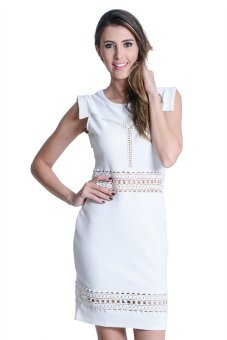 Get Laud! SD Belva Dress (White) Price Philippines