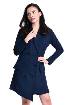 Get Laud! SD Blazer Dress (Dark Blue) Price Philippines