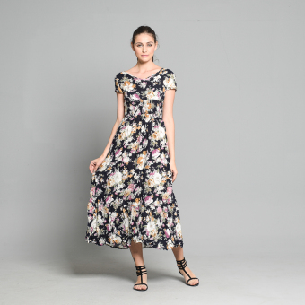 Get Laud SD Dafnee Maxi Floral Dress (Blue) Price Philippines