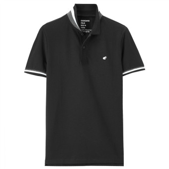 Giordano short sleeved polo shirt (97 logo black)