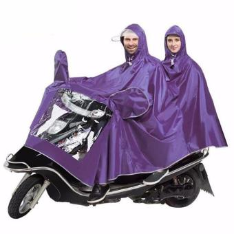 GMY Universal Motorcycle Double Rain Coat - Violet