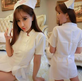 Good Service Women Nurse Uniform Sexy Lingerie Costume SuitMasquerade Cosplay Costume Sexy White - intl