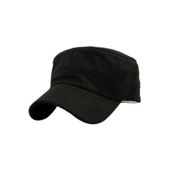 Gracefulvara Hot Fashion Summer Adjustable Classical Army PlainVintage Hat Cadet Military Cap - Black Price Philippines