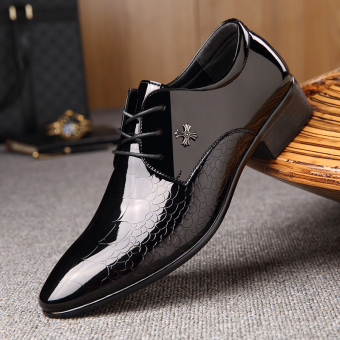 The British Leather nan xiu xian Men shoes business casual leather shoes 5820-1 black 5820-1 black