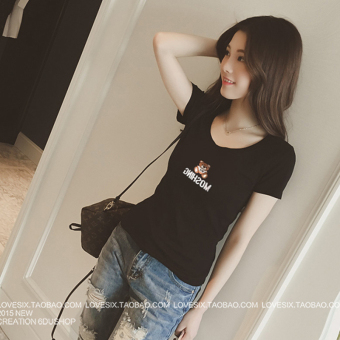 Han Chun Summer Student T-shirt (Black [Bear models])