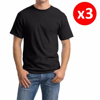 Hanes Comfortable Tops Tagless Classics Round-Neck T-ShirtUndershirt Original Fit 100% Cotton SET OF 3