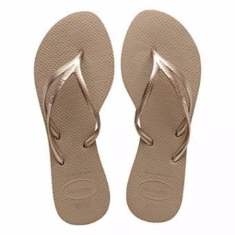 Havaianas Fashion For Women Tria Rose Gold Flip Flop (Brown)