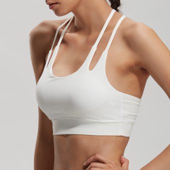 High Strength shock absorption anti-fitness underwear I bra (White)