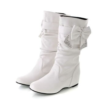 HJ crystal tube Cooljie student boots snowfield boots (White)