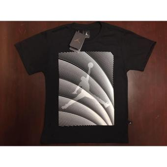 Hoops Jordan Logo with stripes diagonal t-shirt