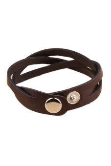 Hot Chic Lovers Cool Leather Twisted Bracelet Xmas Gift KoreanCoffee Price Philippines