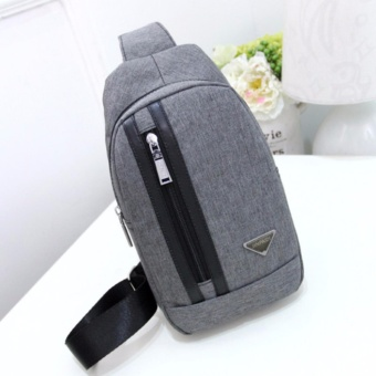 Hush Gecko Sling Bag for WoMen Men Chest Shoulder Gym Backpack SackSatchel Outdoor Crossbody Pack(Grey) - intl