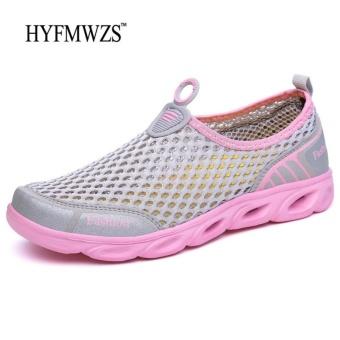 HYFMWZS Fashion Designers 2017 Couple Sneakers Shoes Men Women Slip-on Mesh Casual Shoes For