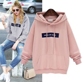 I Korean-style spring mid-length hooded pullover hoodie (Light gray color)