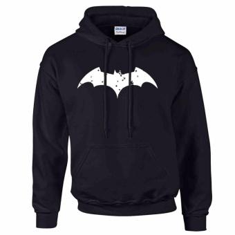 iGPrints BATMAN Distressed Logo Inspired DC Hoodie Jacket Black