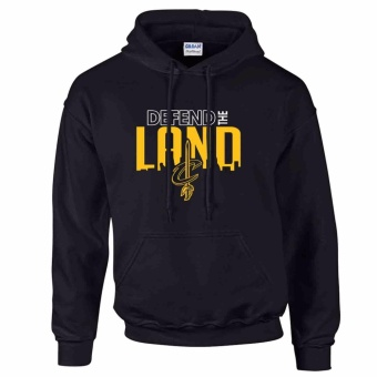 iGPrints Cleveland Cavaliers Inspired NBA Defend the Land Design Hoodie Jacket Black