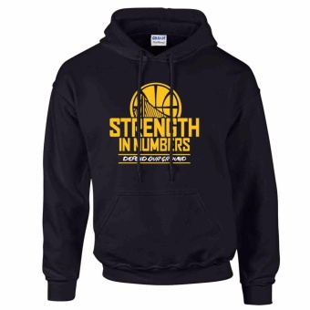 iGPrints Golden State Warriors Inspired NBA Strength in Numbers Hoodie Jacket Black