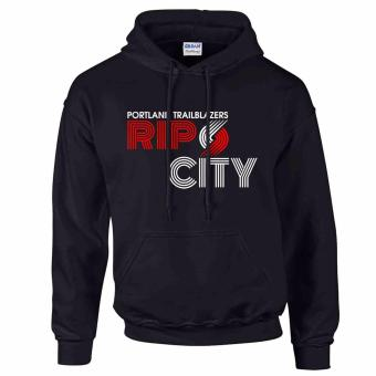 iGPrints Portland Trailblazers Inspired NBA RIP CITY Design Hoodie Jacket Black