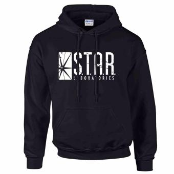 iGPrints S.T.A.R. Laboratories Inspired Distressed Logo STAR LABS Hoodie Jacket Black