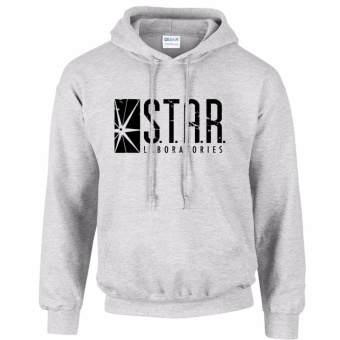 iGPrints S.T.A.R. Laboratories Inspired Distressed Logo STAR LABS Hoodie Jacket Grey