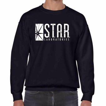 iGPrints S.T.A.R. Laboratories Inspired Distressed Logo STAR LABS Sweatshirt Black