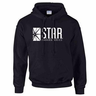 iGPrints S.T.A.R. Laboratories Inspired Logo STAR LABS Hoodie Jacket Black