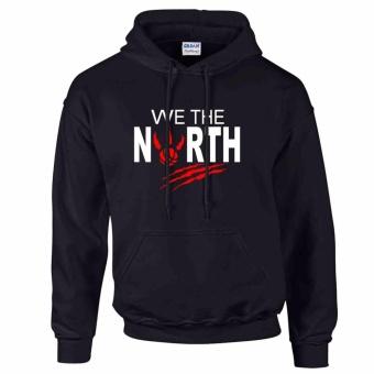 iGPrints Toronto Raptors Inspired NBA We the North Design Hoodie Jacket Black